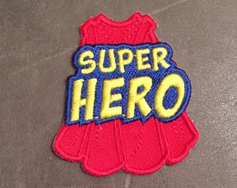 Super Hero Merit Badge Red Cape Scout Patch