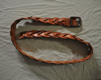 Leather Woven Belt - Size 40/42 - Lucky Brand - Lot 16
