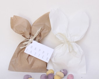 HAPPY EASTER EGG paper bags, easter eggs bags, easter egg favour bags, rabbit bags, peter rabbit theme party, rabbit favours, easter favours