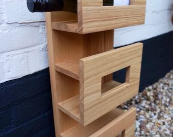 Wine rack for 10 botles - made of olive walnut