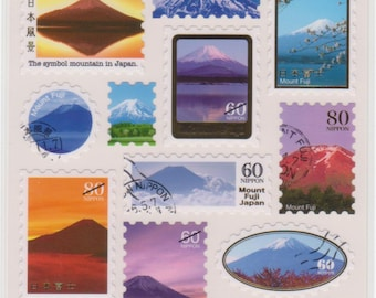 Mt Fuji Stickers - Mind Wave Stickers - Reference A3412