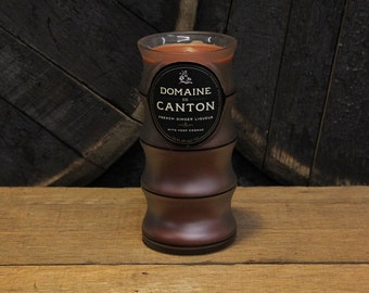 Domaine De Canton Candle, Alternative Wedding Candle, Groom Candle, 750ml Soy Candle, Recycled Liquor Bottle Candle, Custom Scents+Colors