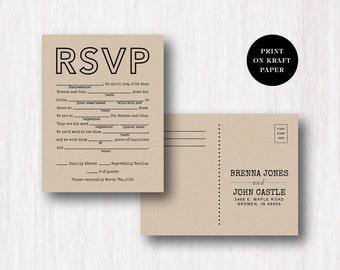rsvp wedding postcards