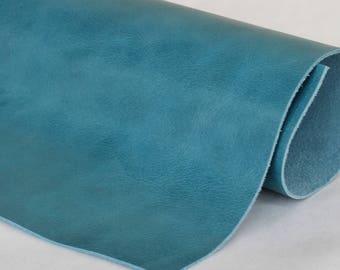 Light Blue  Genuine Leather , Cowhide