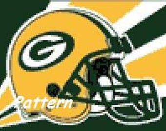 Green Bay Packers Helmet #5. Cross Stitch Pattern. PDF Files.