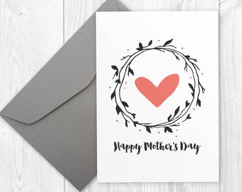Happy Mothers Day card - Cute Mother's Day printable card, printable Mother's Day gift for mom, unique Mothers Day card