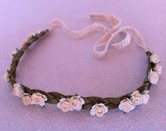 Rose Custom Flower Crown - Choose Your Color and Background - Elegant Simplicity Collection