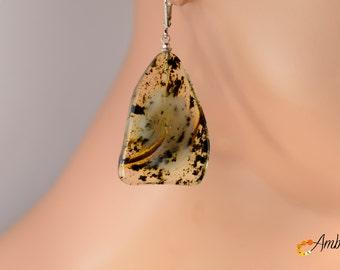 Amber Earrings * Transparent Amber Earrings * Luxury Amber Earings * Jewelery Earrings * Gift For Her * 9g.