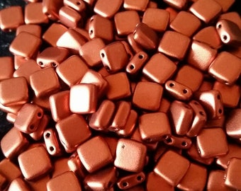 2 Hole Square beads 6 mm