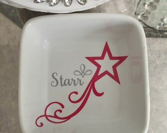 Personalized Shooting Star Jewelry Tray/Dish