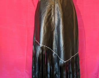 Hand painted Fringe Skirt