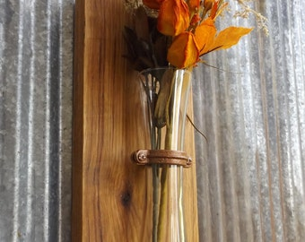 Wood Sconce. Wood Wall Sconce. Rustic Wall Sconce. Wall Vase. Flower Vase. Rustic Decor. Wall Vase. Sconce. Rustic Wall Decor. Fall Decor.