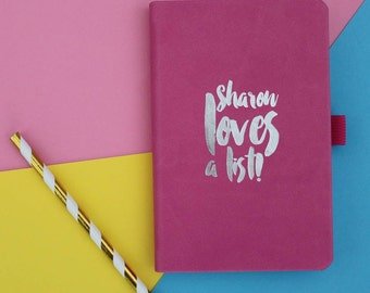 Personalised Love a List Notebook