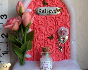 Fairy Door with Roses and Fairy Dust