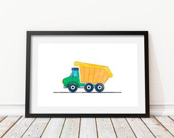 Dumper truck print • Car transporter • Dump truck wall decor • Boom truck • Truck print wall • Truck print • Truck wall art