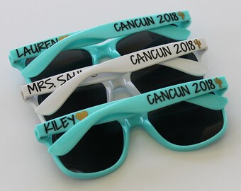 Personalized Sunglasses, Wedding Favors, Bachelorette Gifts, Bachelorette Sunglasses, Destination Wedding, Party Favors