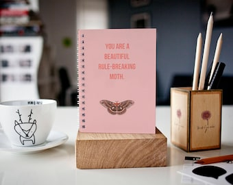 You are a Beautiful, Rule-Breaking Moth - Lined - Parks and Recreation inspired Journal/notebook Mother's Day Gift