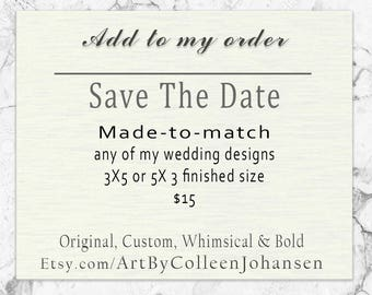 Save The Date - add on Save The Date Printable DYI Printing for Wedding, Birthday, Anniversary - Add on to any of my designs