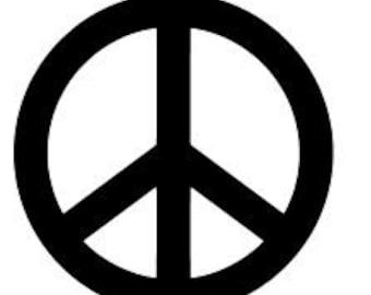 PEACE SYMBOL  Vinyl Decal Sticker Religious God Jesus Priest Choose Color Free Shipping