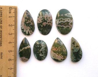 One Ocean Jasper Cabochon Jaspr Vab Stone Cabochon Natural Color Cab Mineral Cabochon Jasper Focal Stone Loose Jasper Semiprecious Stone