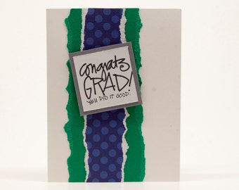 High School or College Graduation Cards with Custom Colors