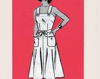 Vintage 1970s WRAP Sundress Sewing Pattern Marian Martin 9143 70s Mail Order Pattern Sz 14 B 36