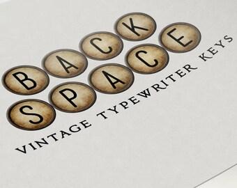Digital Scrapbooking Backspace Typewriter Keys Set & PSD
