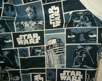 Boys Apron, Star Wars, black and white and gray, size 6 to 8