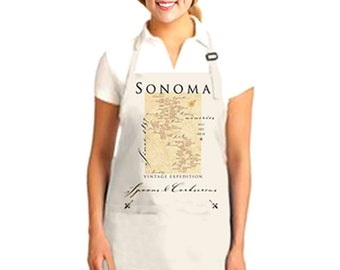Sonoma Winery Map Apron