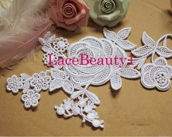 Venice lace Lace applique lace patch lace trim bridal headpiece hair band lace embellishment bridal headwear lace headpiece