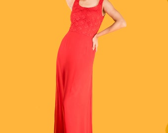Beautiful red gown