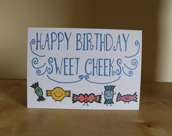 Happy Birthday Sweet Cheeks Card