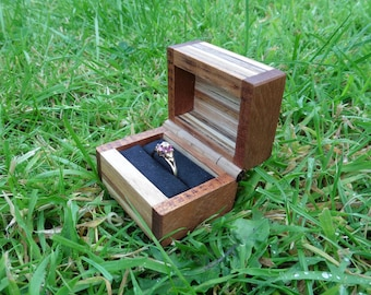 Hand Crafted Wooden Ring Box - Proposal - Engagement - Wedding - Ring Bearer - Wooden Hinge - Wood - Gift - Present - Marry Me?