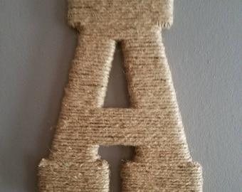Front door twine letters
