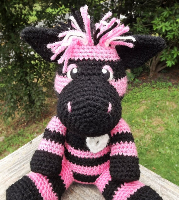 Colorful zebra amigurumi crochet pattern with heart applique colorful zebra amigurumi crochet pattern with heart applique pattern only doll not included dt1010fo