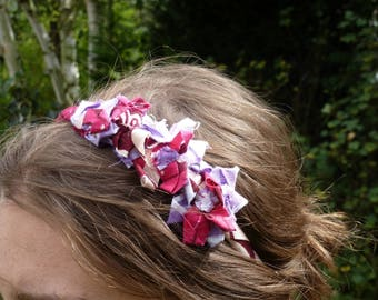 Fabric Ribbon flower headband