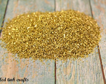 Authentic Chunky Gold German Glass Glitter