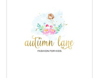 Premade Logo Design | Floral Logo | Photography Logo | Watercolor Logo | Business Logo | Blog Logo | Feminine Logo | Fairy Logo | Gold Foil
