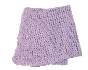 Crib Afghan, Crochet Baby Afghan, Lilac Blanket, Crochet Afghan, Purple Baby Blanket, Lilac Afghan, Lavender Blanket, Stroller Afghan, Pram