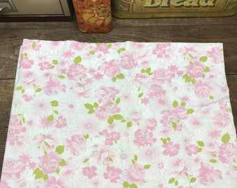 Vintage Pillowcase Pink Floral