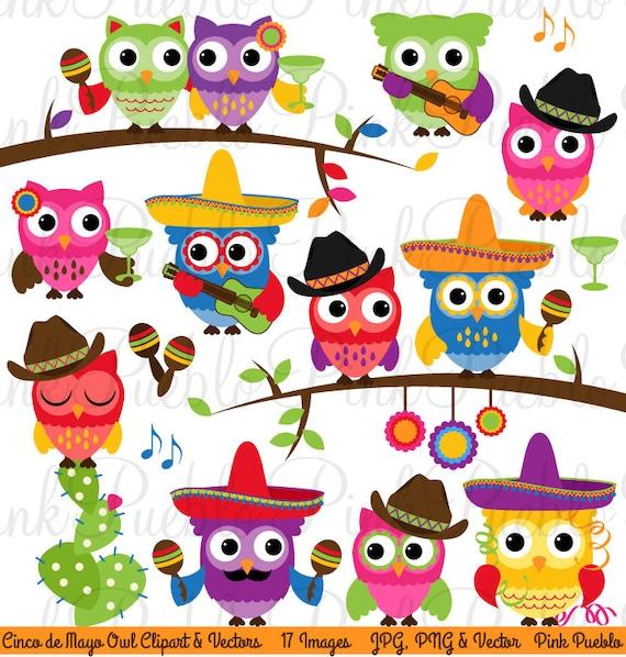 Cinco de Mayo Owl Clipart Clip Art Happy Cinco de Mayo Cowboy