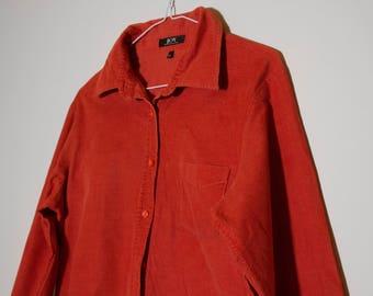 Vintage blood orange woman's shirt