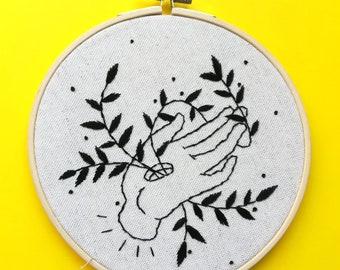 Embroidery hand III