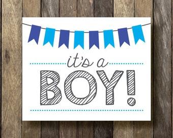 Boy Announcement Etsy - Boy announcement