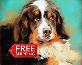Custom pet portrait-Dog portrait -Oil portrait from photos-Pet Portrait painting-Family oil portrait-Oil painting-Pets painting