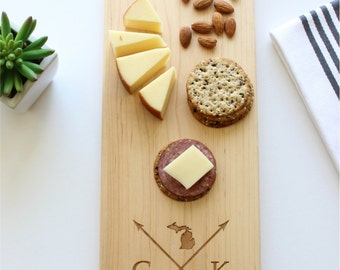 Personalized Cheese Board, Custom Name, State Cutting Board, Corporate Gift, Wedding, Anniversary, Closing Gift, Gift For Her, Husband Gift