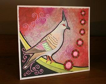 Original Crested Pigeon as Totem