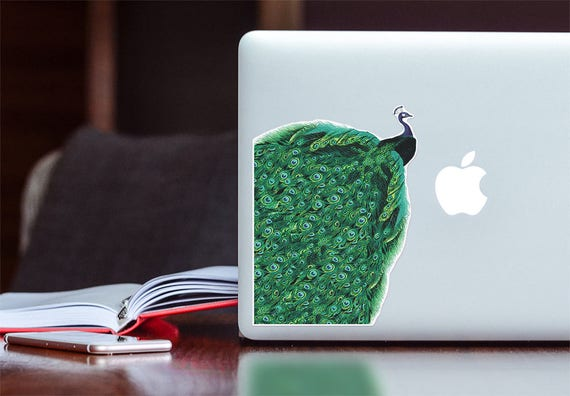 Peacock Laptop decal sticker, Peacock endless tail,  Student gift, laptop stickers,, High quality  stickers for electronic devices STC022