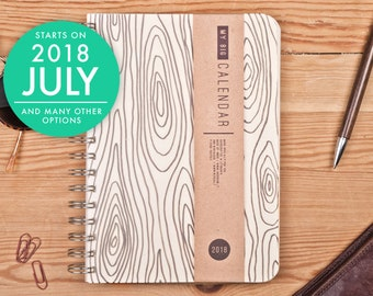 2018 2019 Weekly Planner with a high quality paper! A5 Diary with Wood texture! Calendar Calendario Kalender Agenda Journal! Open-dated