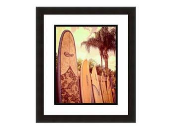 Surfboard wall art Surfboard photo Surfboard fence Surfboard decor Surf art Surfer gifts for surfers Surfing photo Surfboard art print